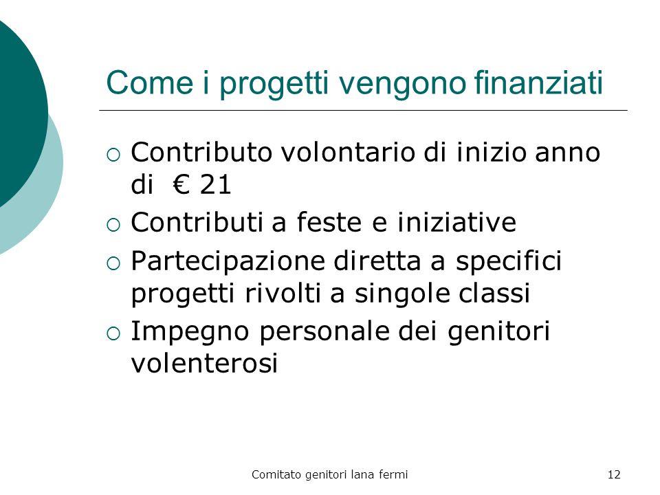 Come i progetti vengono finanziati