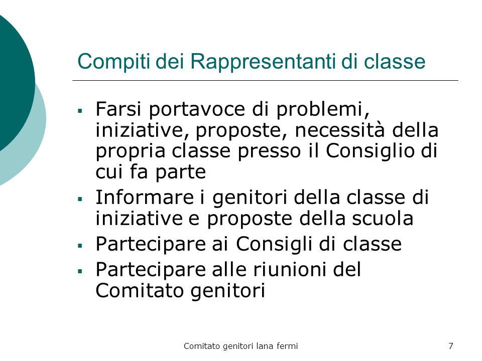Compiti dei Rappresentanti di classe