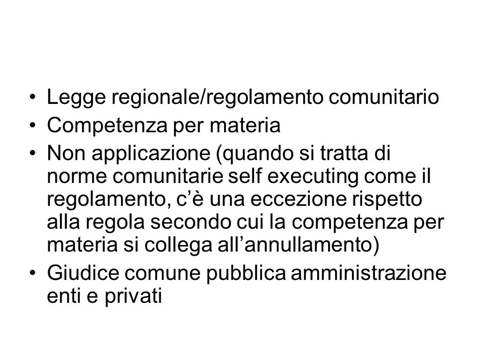 Legge regionale/regolamento comunitario