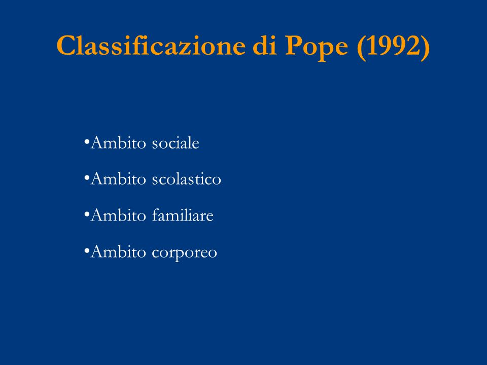 Classificazione di Pope (1992)
