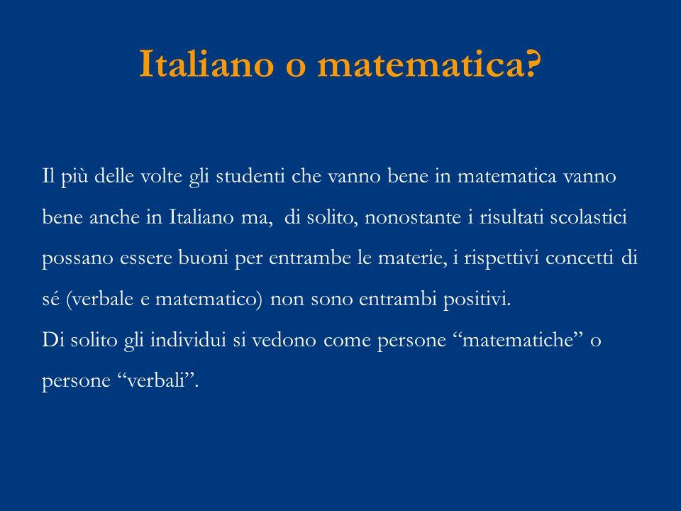 Italiano o matematica