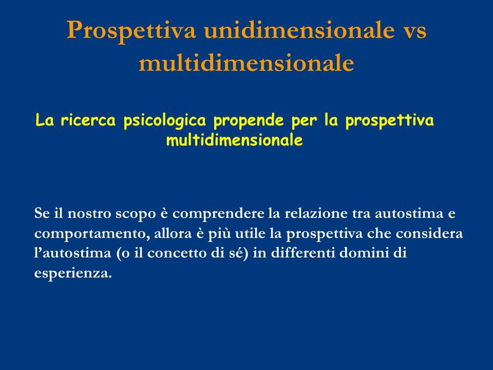 Prospettiva unidimensionale vs multidimensionale