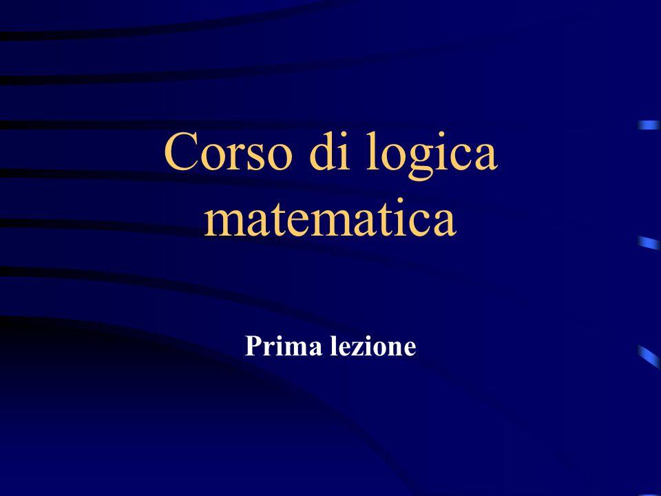 Corso di logica matematica