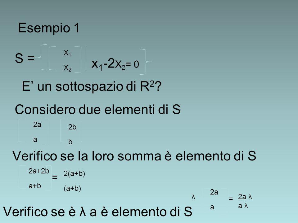 Considero due elementi di S