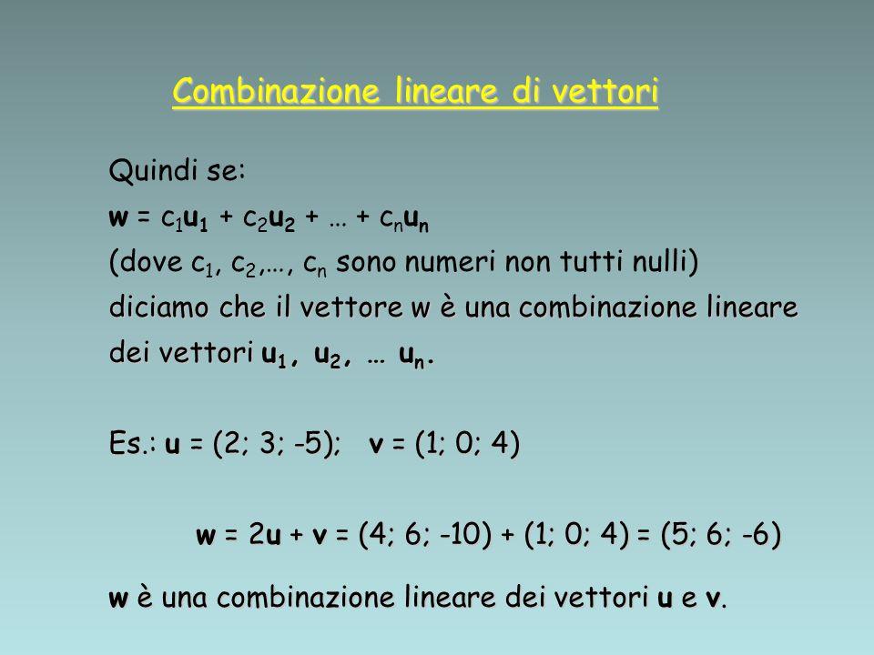 Combinazione lineare di vettori