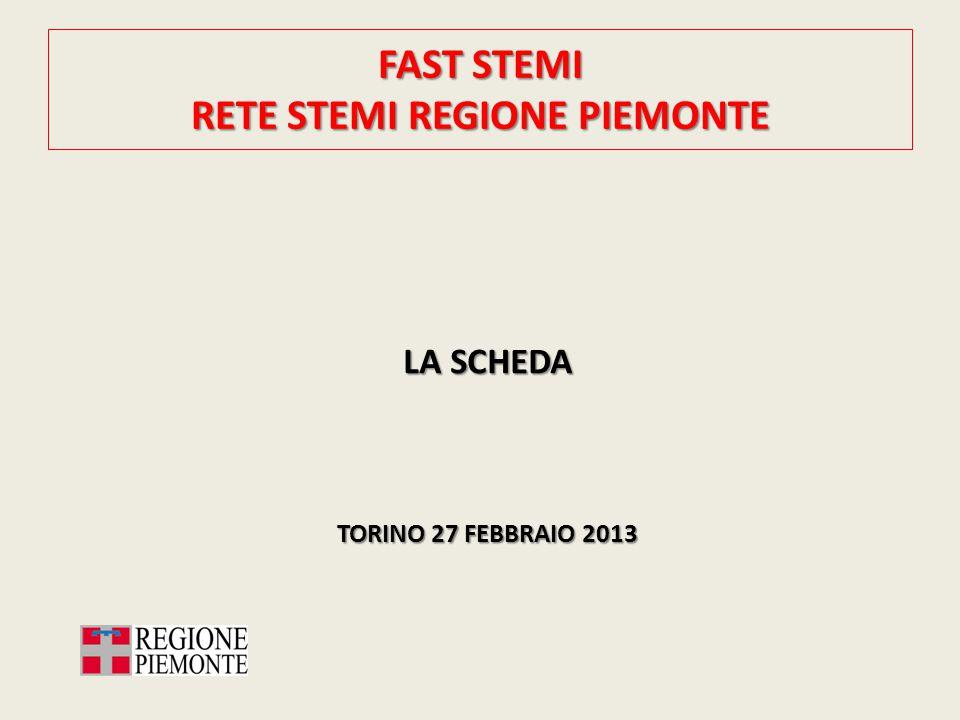 FAST STEMI RETE STEMI REGIONE PIEMONTE