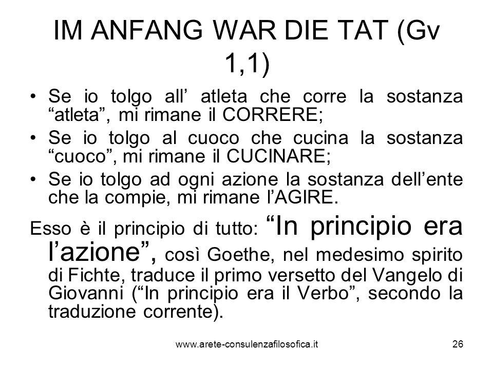 IM ANFANG WAR DIE TAT (Gv 1,1)