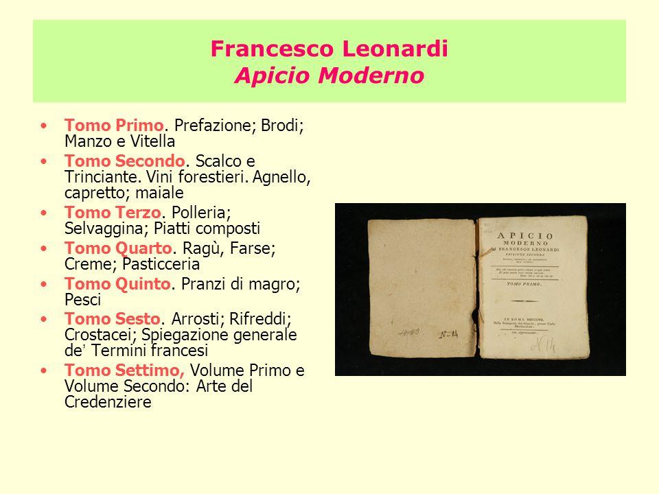 Francesco Leonardi Apicio Moderno
