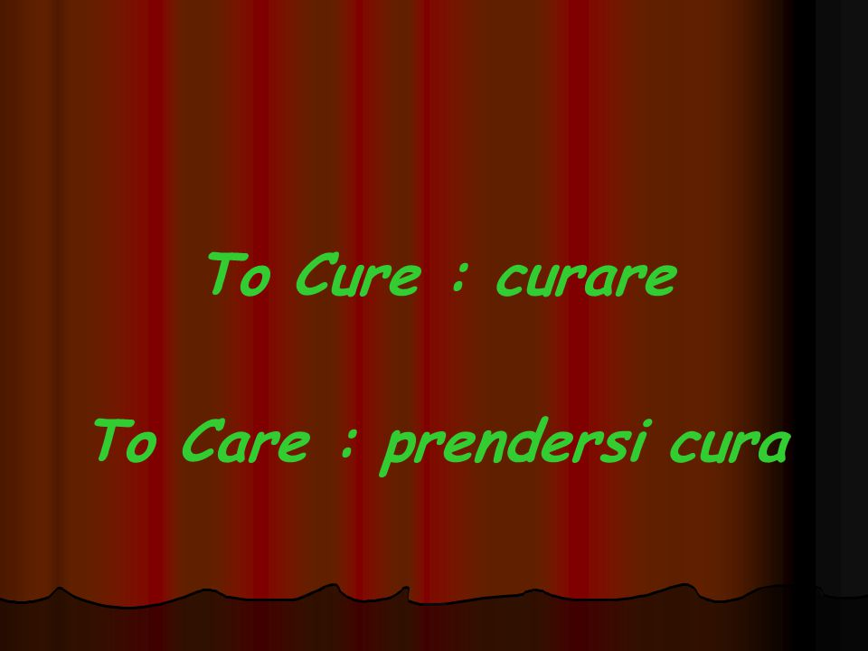 To Care : prendersi cura