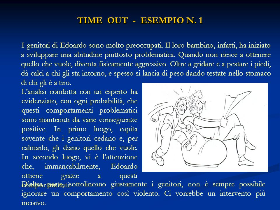 TIME OUT - ESEMPIO N. 1