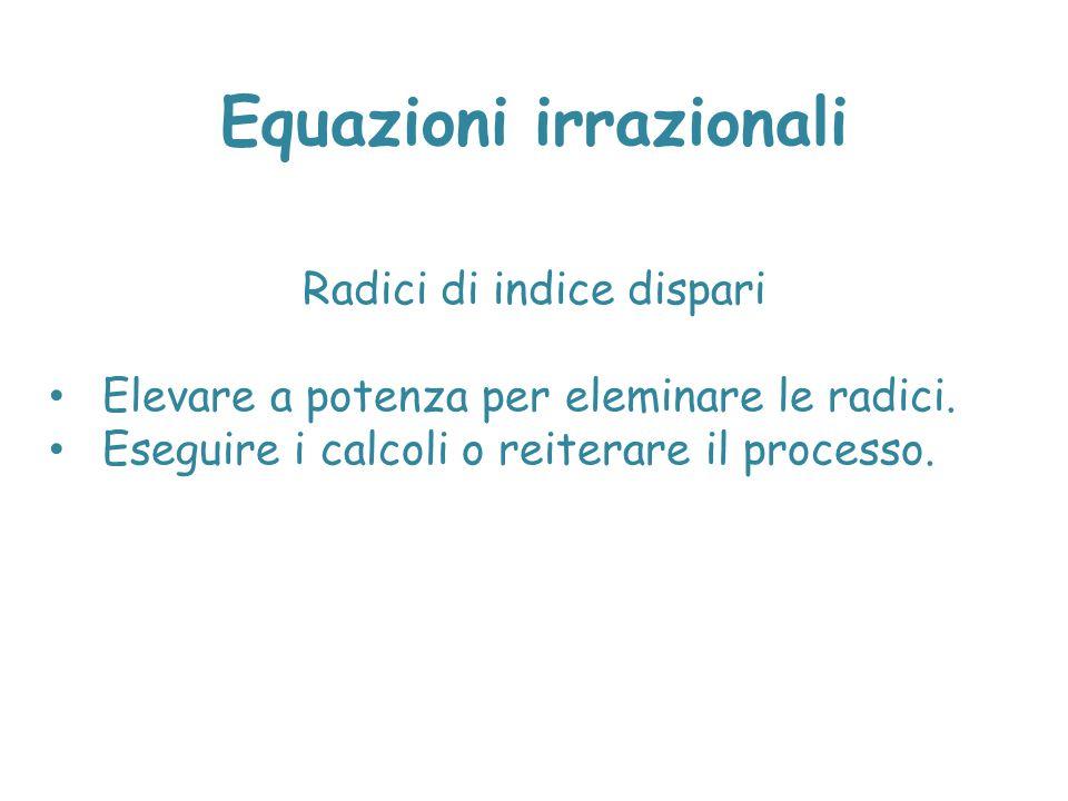 Equazioni irrazionali