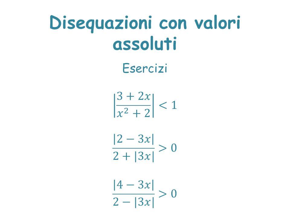 Disequazioni con valori assoluti