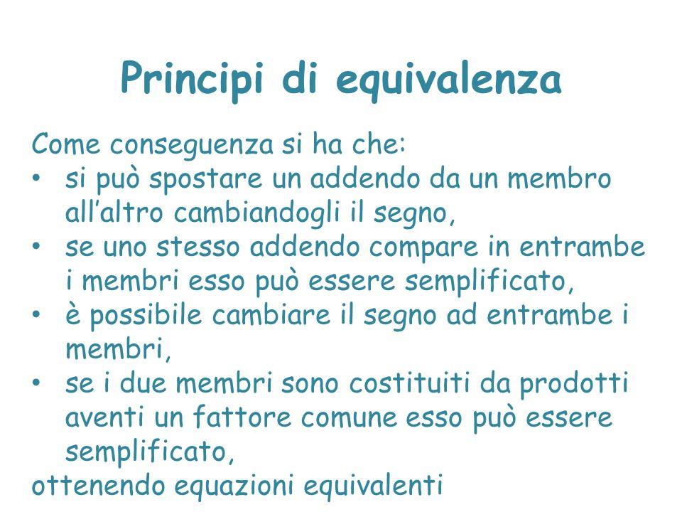 Principi di equivalenza