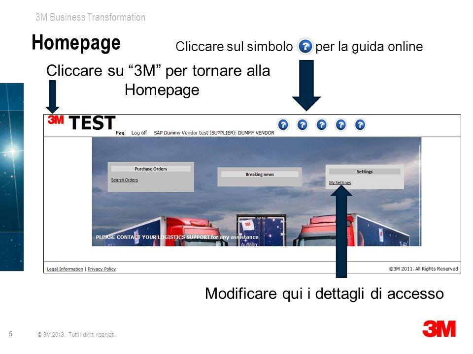 Homepage Cliccare su 3M per tornare alla Homepage