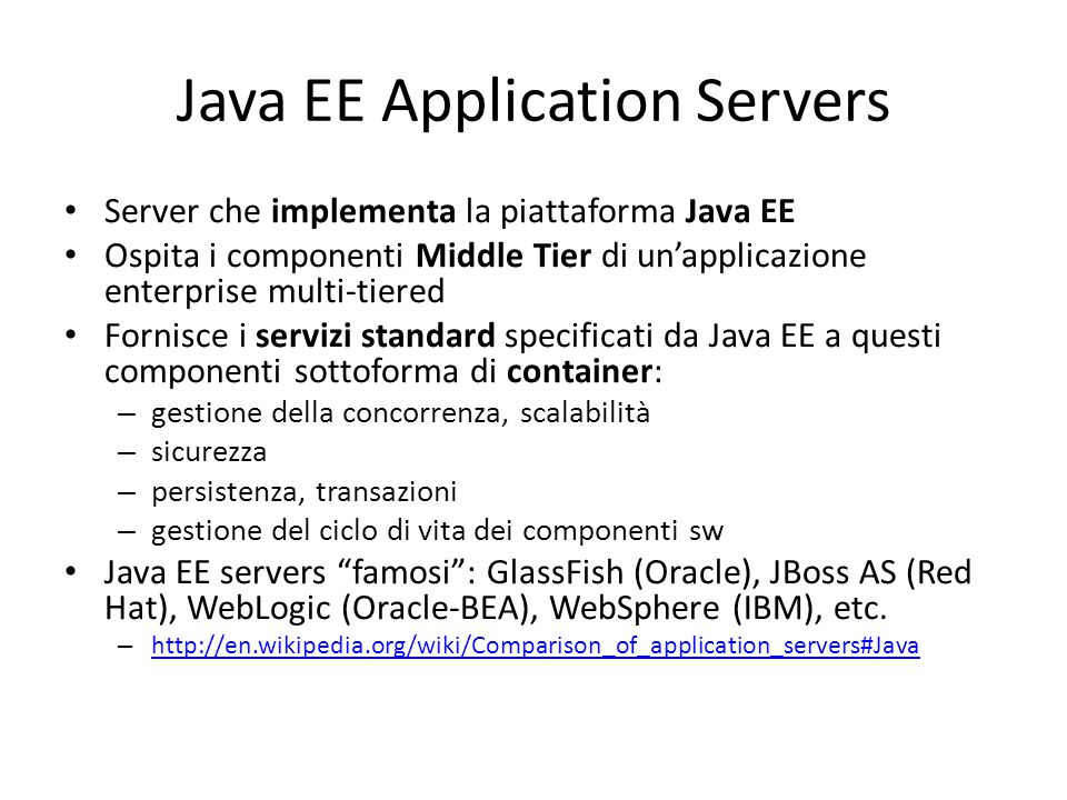 Java EE Application Servers