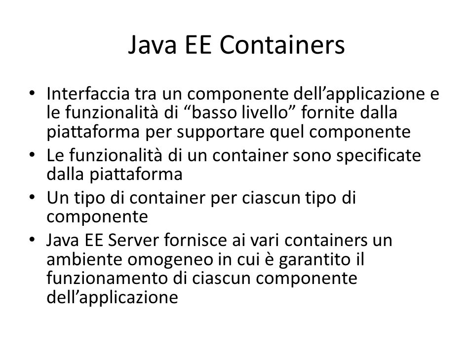 Java EE Containers