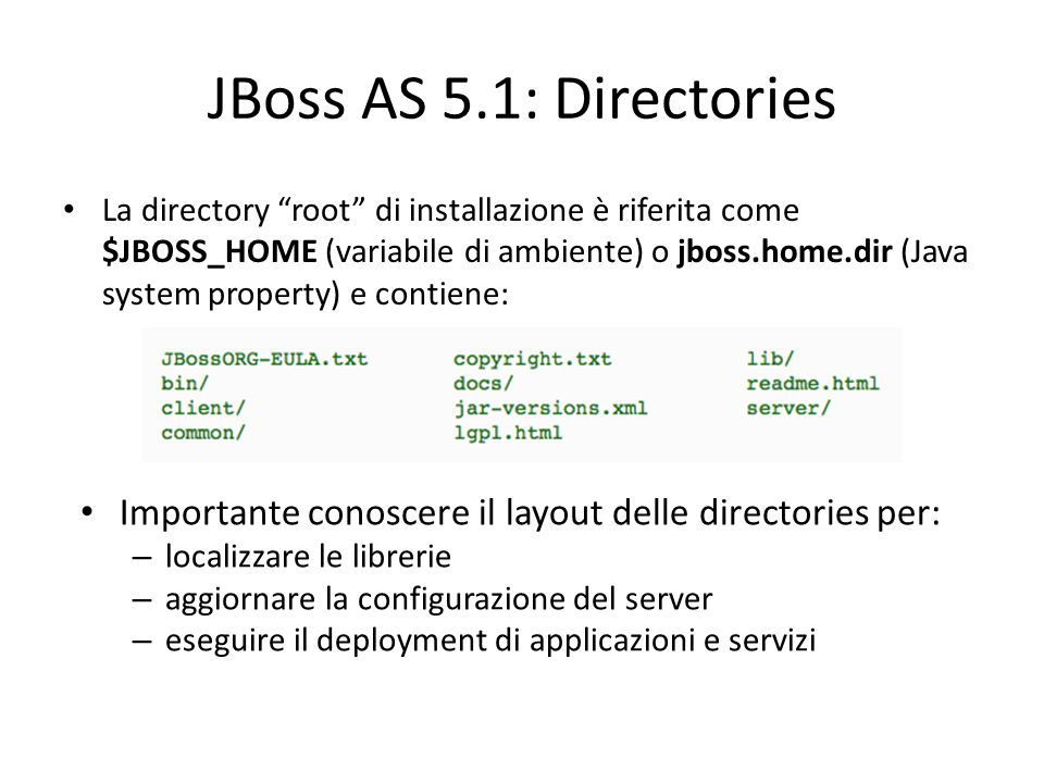 JBoss AS 5.1: Directories