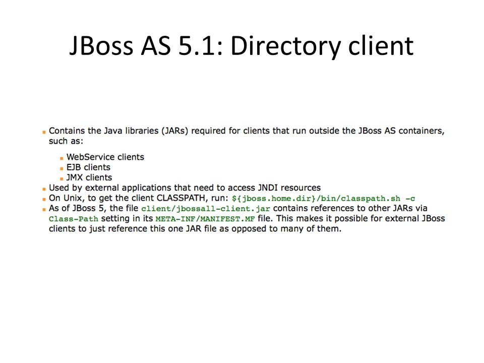 JBoss AS 5.1: Directory client