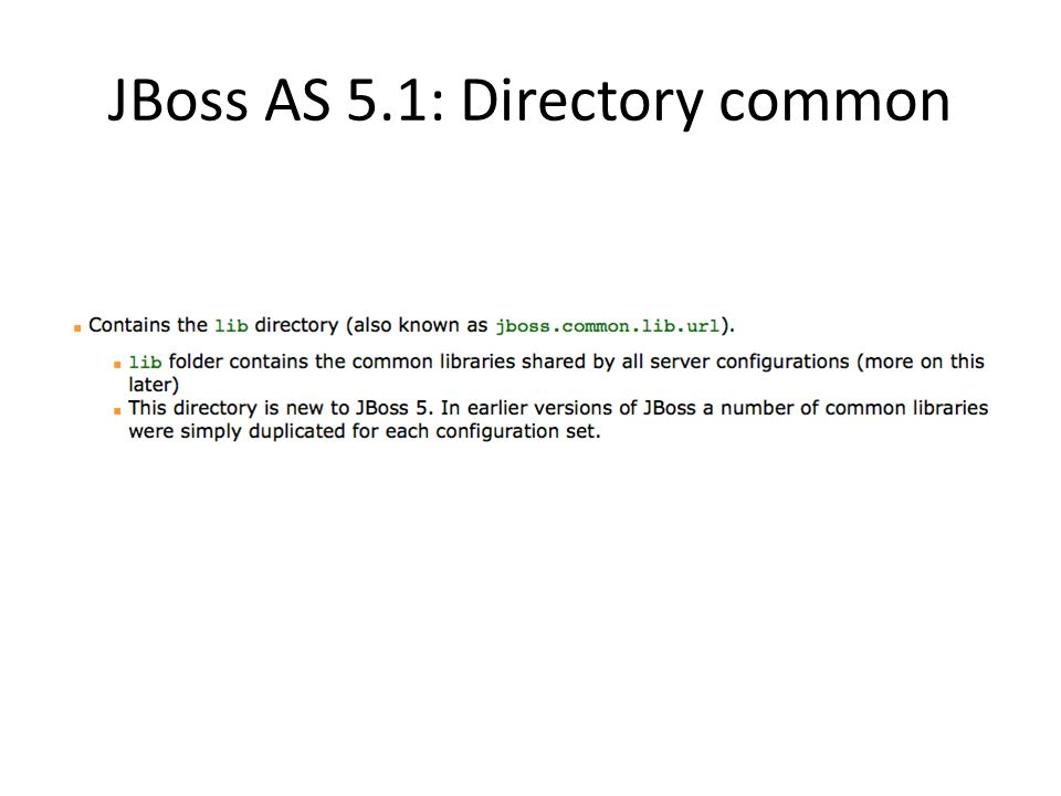 JBoss AS 5.1: Directory common