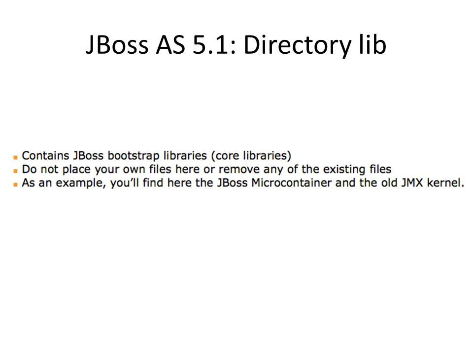 JBoss AS 5.1: Directory lib