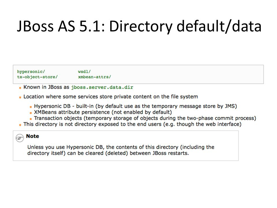 JBoss AS 5.1: Directory default/data