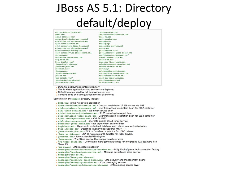 JBoss AS 5.1: Directory default/deploy