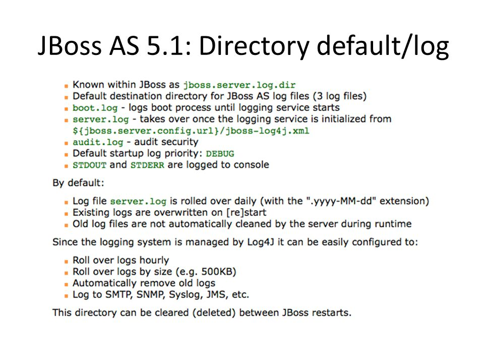 JBoss AS 5.1: Directory default/log