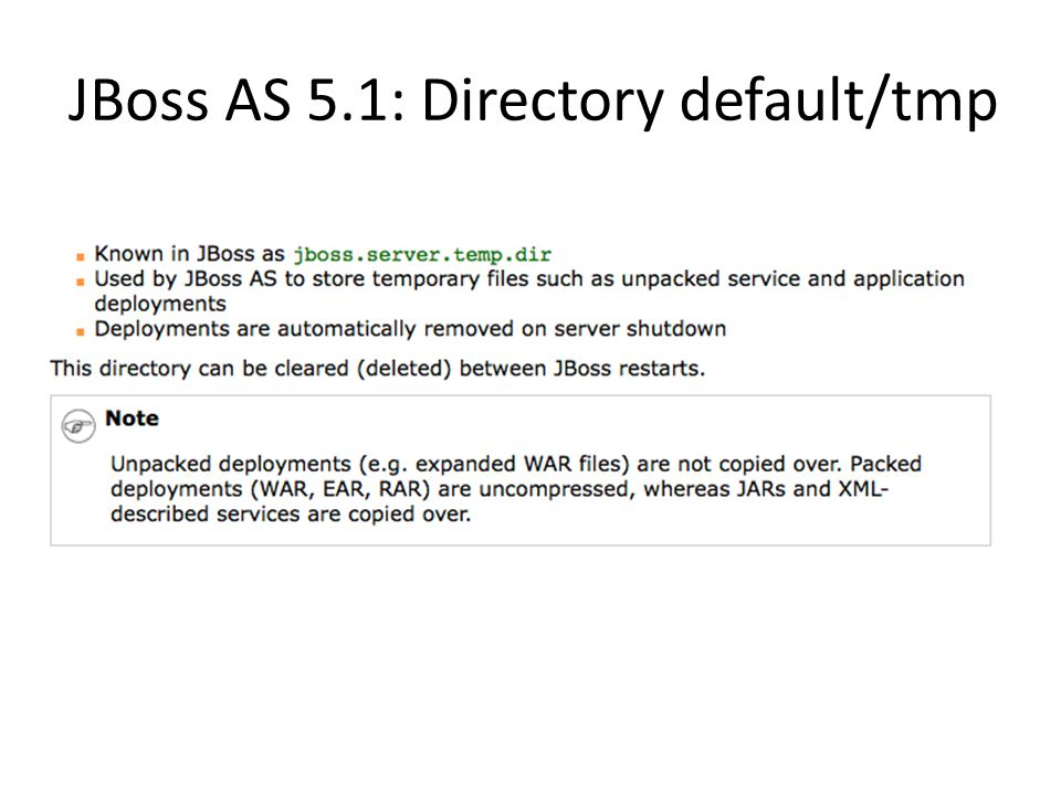 JBoss AS 5.1: Directory default/tmp