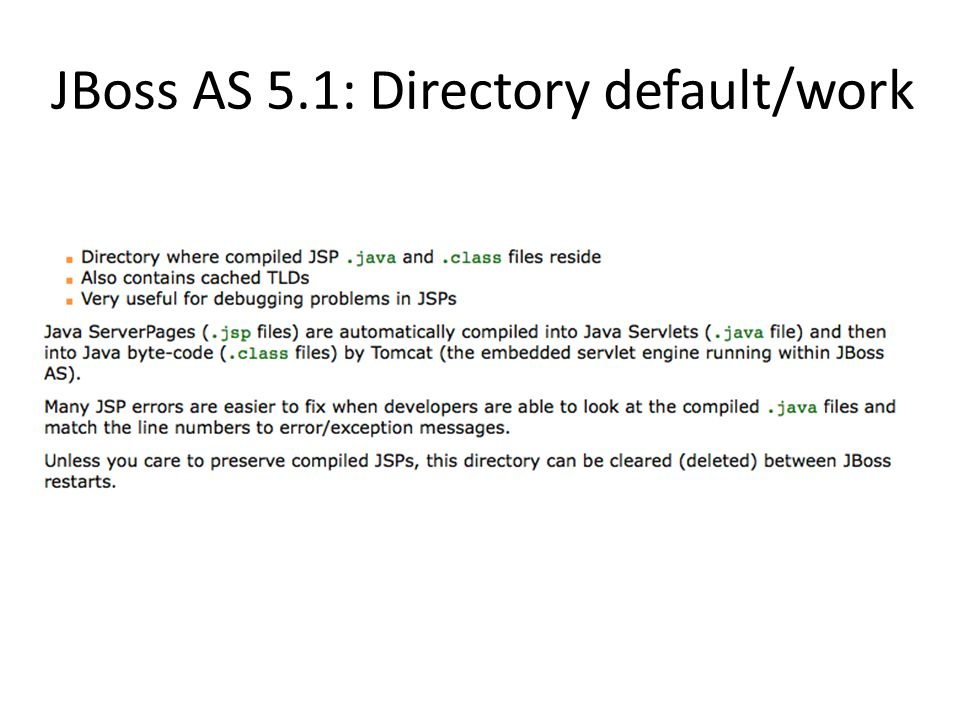 JBoss AS 5.1: Directory default/work