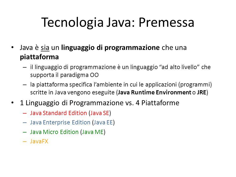 Tecnologia Java: Premessa