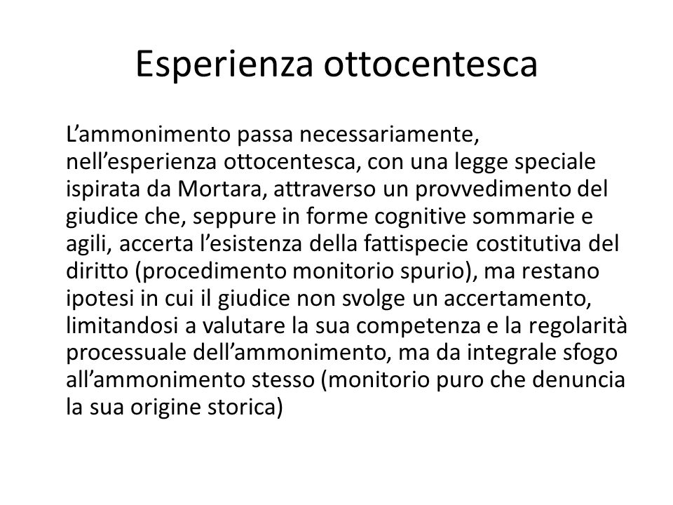 Esperienza ottocentesca