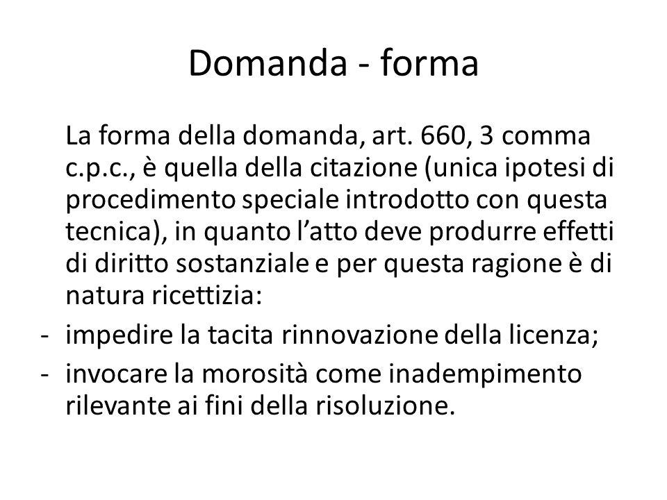 Domanda - forma