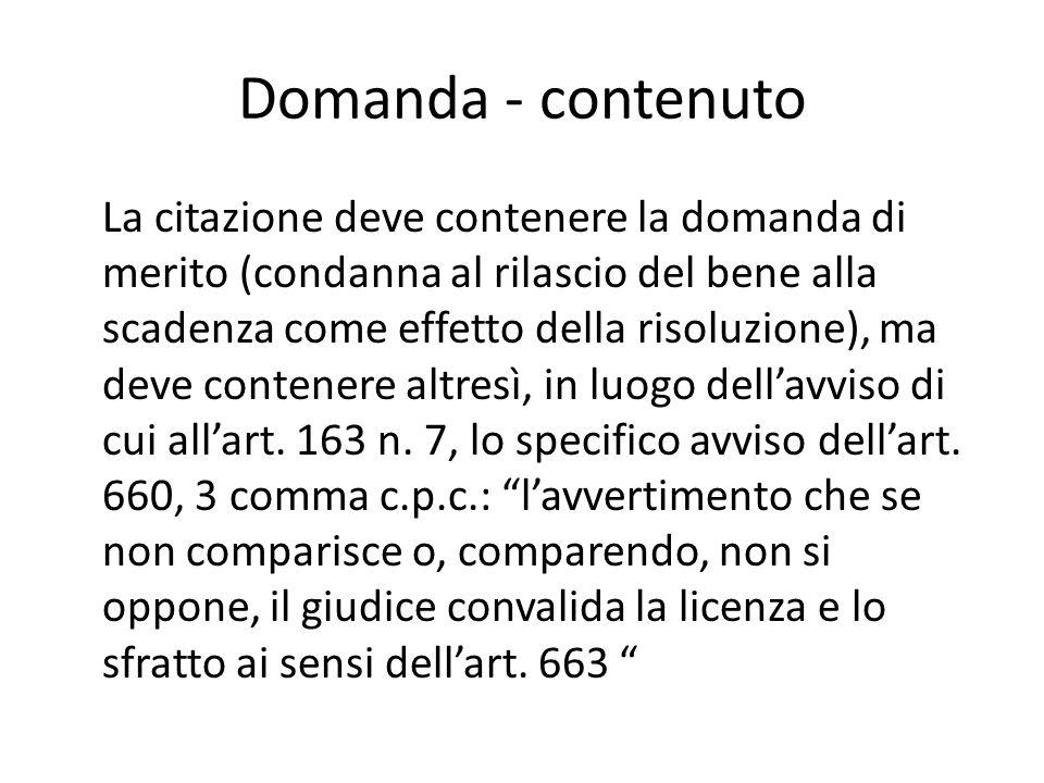 Domanda - contenuto