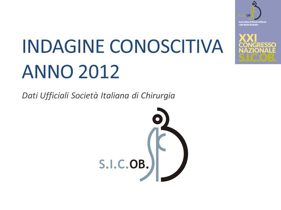 Indagine conoscitiva anno 2012