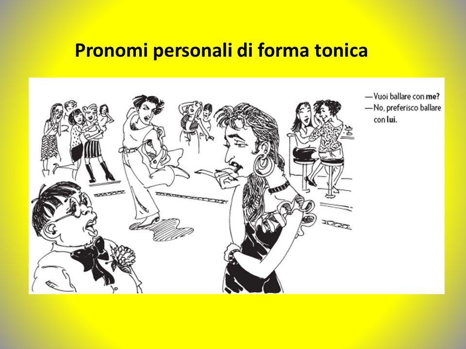 Pronomi personali di forma tonica