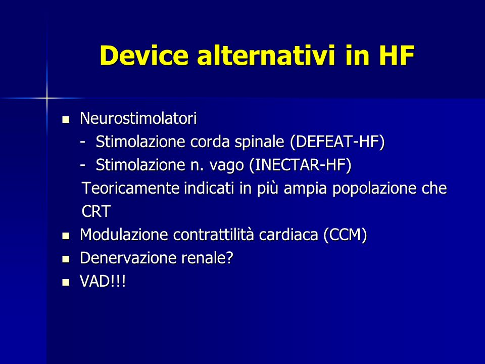 Device alternativi in HF