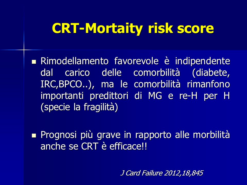 CRT-Mortaity risk score