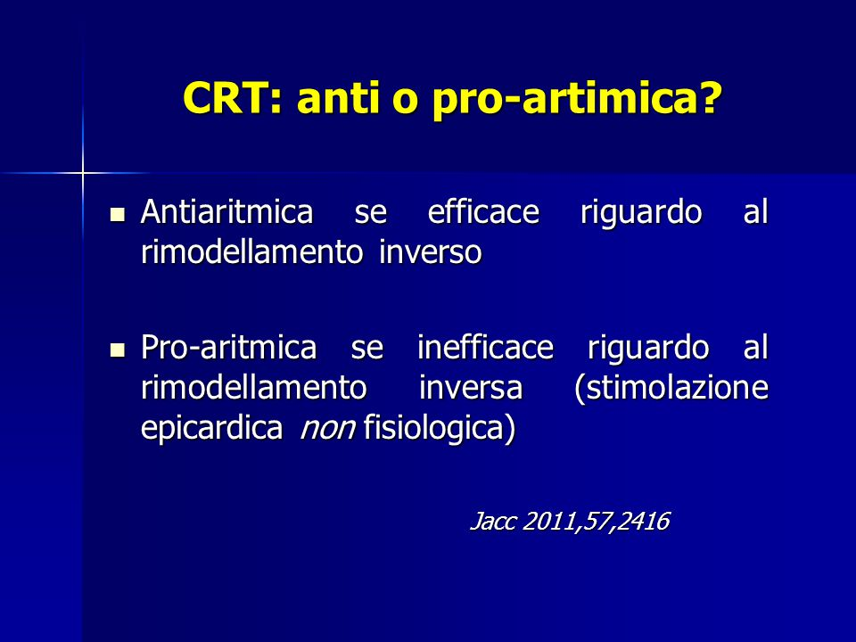 CRT: anti o pro-artimica