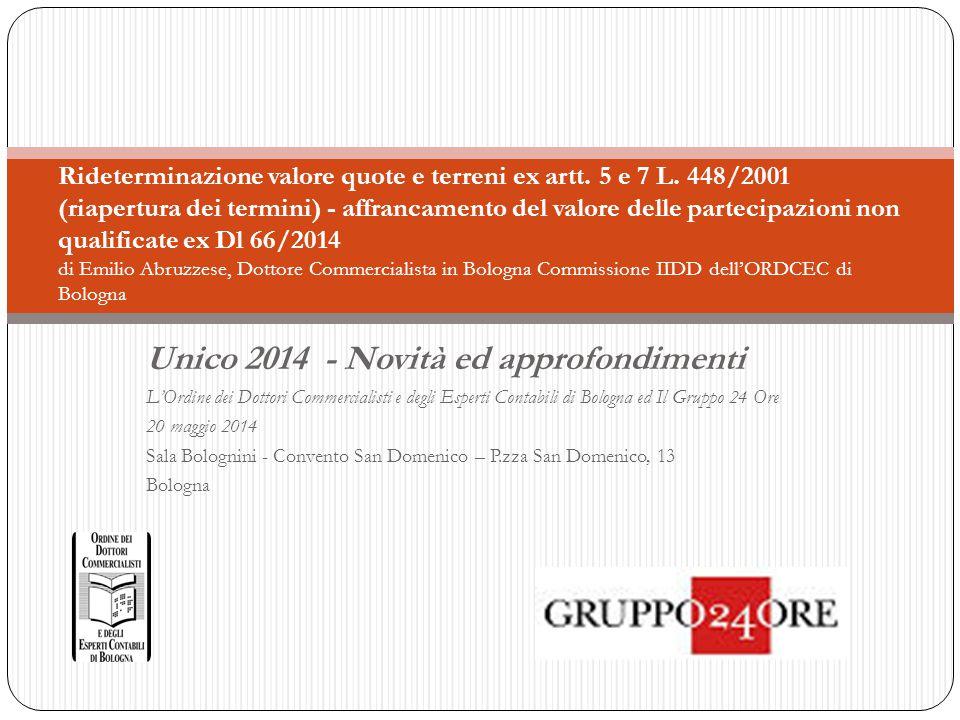 Unico 2014 - Novità ed approfondimenti