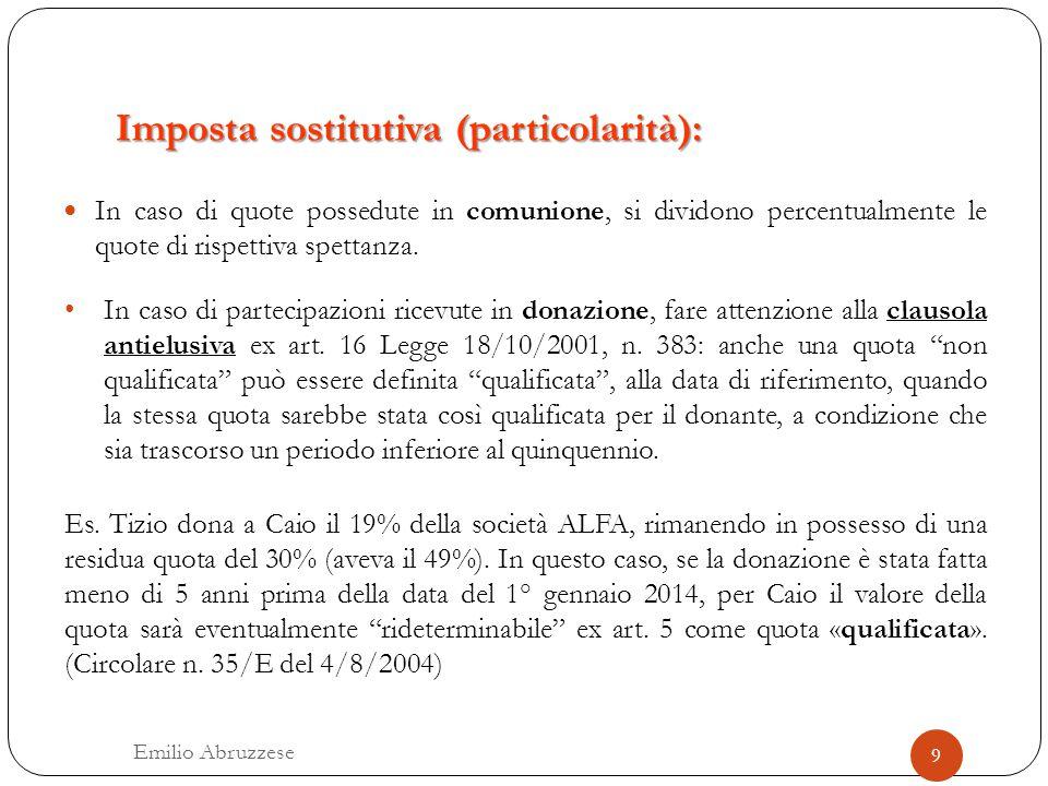Imposta sostitutiva (particolarità):