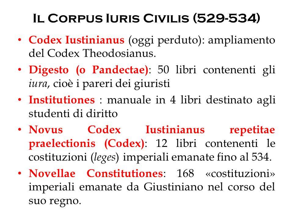 Il Corpus Iuris Civilis (529-534)