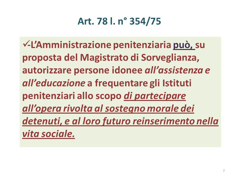 Art. 78 l. n° 354/75