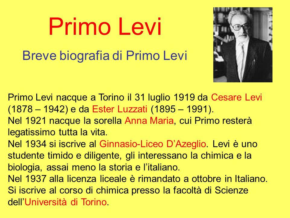 Primo Levi Breve biografia di Primo Levi