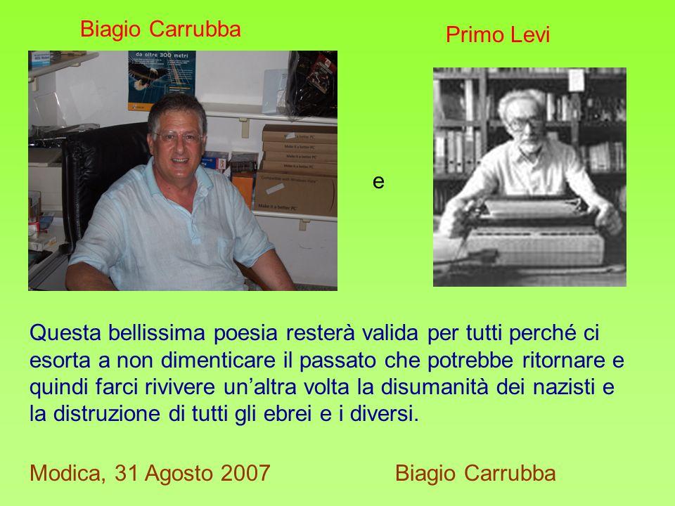Biagio Carrubba Primo Levi. e.