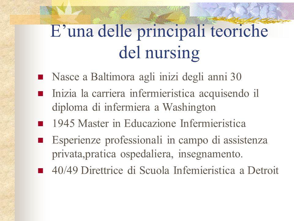 E'una delle principali teoriche del nursing
