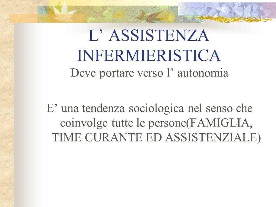 L' ASSISTENZA INFERMIERISTICA