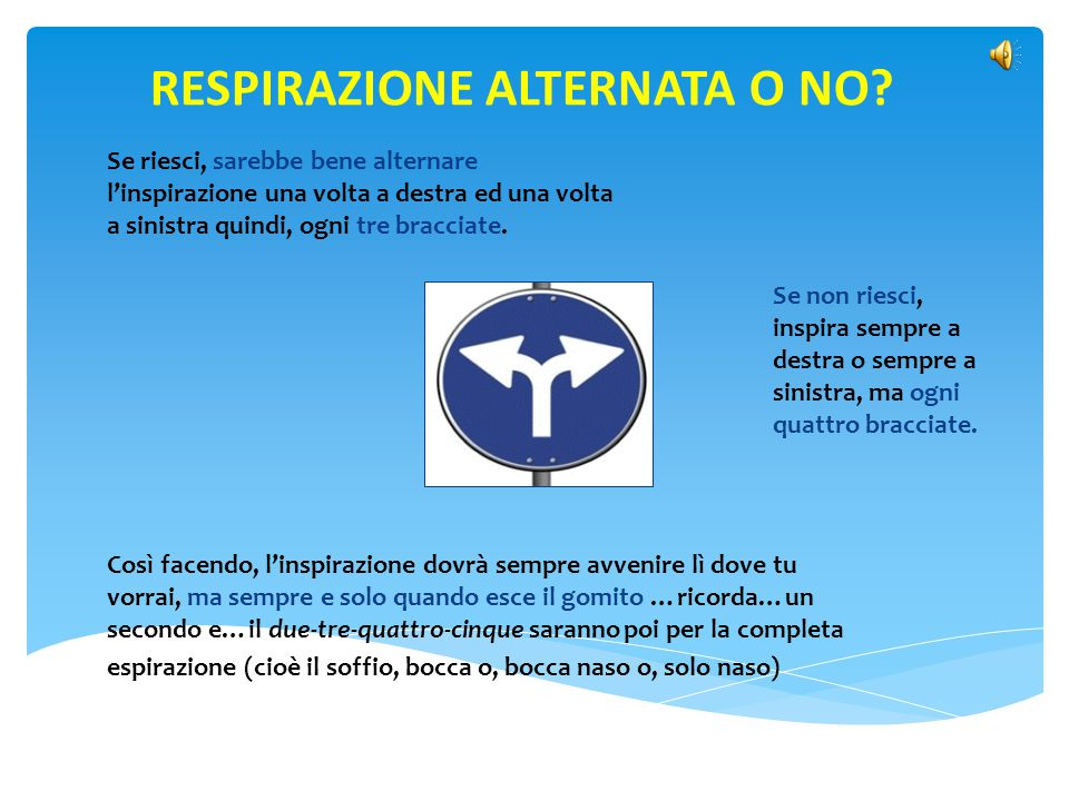 RESPIRAZIONE ALTERNATA O NO
