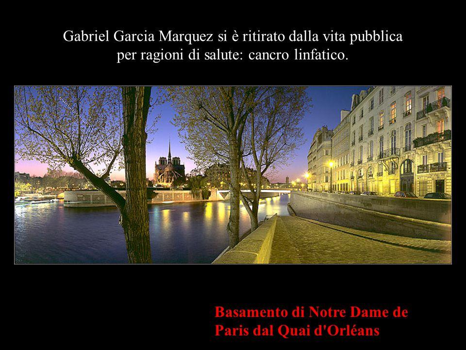 Gabriel Garcia Marquez si è ritirato dalla vita pubblica per ragioni di salute: cancro linfatico.