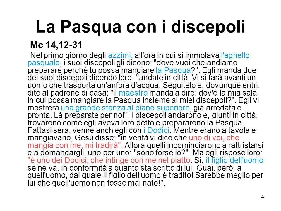 La Pasqua con i discepoli