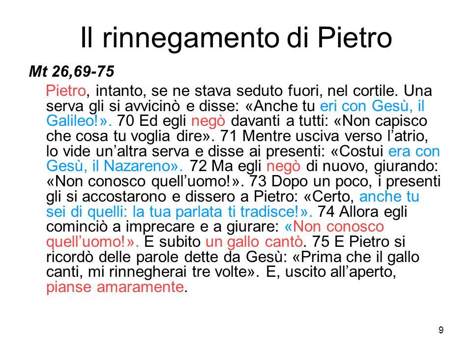 Il rinnegamento di Pietro